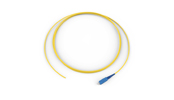 Fiber Optic Jumper, 1 F, Pigtail to SC, Tight-Buffered Cable, Plenum, 2.9 mm, Single-mode (OS2), 5 m