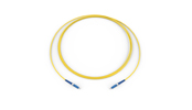 Fiber Optic Jumper, 1 F, LC to LC, Tight-Buffered Cable, Riser, 1.6 mm, Bend-improved Single-mode (OS2), 3 m