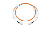 Fiber Optic Jumper, 1 F, SC to SC, Tight-Buffered Cable, Plenum, 2.9 mm, 62.5 µm multimode (OM1), 2 m