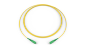 Fiber Optic Jumper, 1 F, SC APC to SC APC, Tight-Buffered Cable, Riser, 1.6 mm, Bend-improved Single-mode (OS2), 3 m
