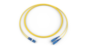 Fiber Optic Jumper, 2 F, LC Duplex to SC, Zipcord Cable, Riser, 1.6 mm legs, Bend-improved Single-mode (OS2), 5 m