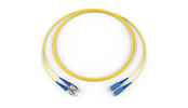 Fiber Optic Jumper, 2 F, FC to SC, Zipcord Cable, Riser, 1.6 mm legs, Bend-improved Single-mode (OS2), 5 m
