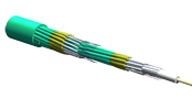 Fan-Out Tight-Buffered Cable, Riser, 24 F, 1.65 mm Subunits, 50 µm multimode, extended 10G distance (OM4)