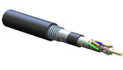 Industrial LSZH™ Tray-Rated, Loose Tube, Gel-Free, Corrugated Armored Cable, 72 F, 62.5 µm multimode (OM1)