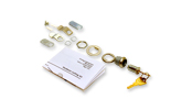 Lock Kit for front door of housing; contains one lock with two keys